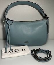 COACH Sutton Crossbody 52548 Polished Pebble Leather Marine Blue Gunmetal HW
