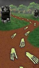 Halloween SKELETON Scary Feet Footprints Floor Party Decoration Props