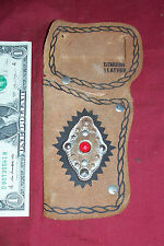 Old Cap Gun Holster Leather Small Little Vintage Diecast Concho Faux Rhinestone