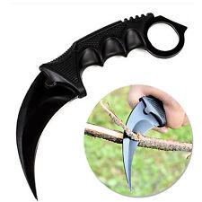PO Black CSGO Fade Karambit Cs Go Tooth Doppler Counter Strike Fixed Blade Knife