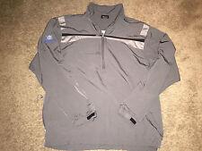 BOEING NIKE Golf Classic Medium Windbreaker Pullover Zip Up Jacket Shirt Grey