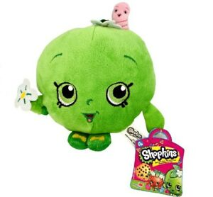 """2013 Moose Shopkins 7"""" Plush GREEN APPLE BLOSSOM New With Tags"""