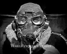 RAF WW2 Air Crew Oxygen Mask Goggles Headphone/Mic 8x10 Photo WWII