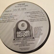 RADIO SHOW: RECORD REPORT w/ROBERT W. MORGAN 7/10/78 ABBA,FOGHAT,KEITH CARRADINE