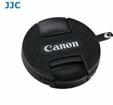 JJC CS-C49 BLACK Leather Lens Cap Keeper for the lens cap of Canon 49mm filter