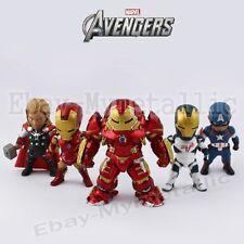 5pcs Super Hero Avengers Hulkbuster Iron Man Thor Captain America 8cm PVC Figure