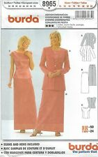 burda 8965 Misses' Evening Coordinates 10 to 24   Sewing Pattern