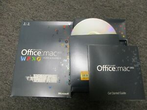 MS Microsoft Office MAC 2011 Home and Business Licensed for 1 User Original Box
