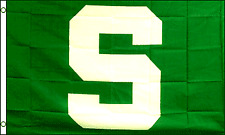 Green S Flag 3x5 Flag Polyester Michigan State University College