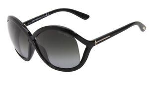 Tom Ford Vivienne Sunglasses Shiny Black Gradient Gray FT278 01B 61-17 115