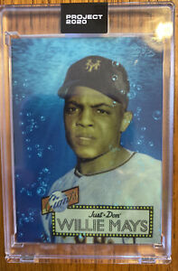 Topps PROJECT 2020 Card 128 - 1952 Willie Mays by Don C Print Run 7195