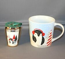 2016 starbucks christmas penguin  cup 8 oz and ornament NWT