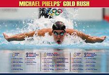 THE ASTONISHING OLYMPIAN MICHAEL PHELPS COMMEMORATIVE POSTER