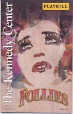FOLLIES Playbill Kennedy Center BERNADETTE PETERS JAN MAXWELL ELAINE PAIGE
