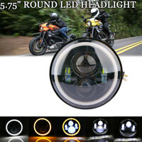 5.75 Zoll LED Projector DRL HeadLight Fit Für Harley Iron XL 883 Sportster