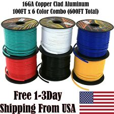 16 Gauge Ga 6 Color Primary Wire for 12V Car Stereo Audio Speaker Radio Harness