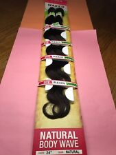 "SAGA NAKED BODY WAVE BRAZILIAN VIRGIN REMY_100% HUMAN HAIR_24""_#NATURAL"