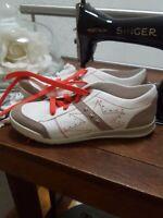 Superfit Mädchen Damen Sneaker Schuhe Sportlich 39 Neu weiß Koralle Schnüre