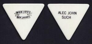 Bon Jovi Alec John Such Signature White Guitar Pick - 1988 New Jersey Tour