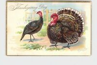 ANTIQUE POSTCARD THANKSGIVING TURKEY DAY RJ WEALTHY TUCK & SONS