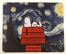 Snoopy auf seinem Haus Sterne / Peanuts - Mauspad Mouse pad Mousepad blau NEU