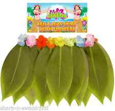 Ladies Hawaiian Hula Girl Grass Leaf Skirt Fancy Dress Costume Outfit