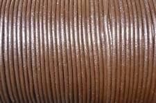 5 mètres cordon cuir / lacet cuir marron diam. 2 mm