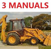 Case 580 Super K 580K 580CK Backhoe Loader 3 Service Manuals OP Operators 580SK
