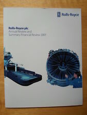 ROLLS ROYCE Annual Review and Summary Financial Statement 2001 brochure document