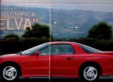 Z46 Ritaglio Clipping 1993 Pontiac Firebird Trans-Am