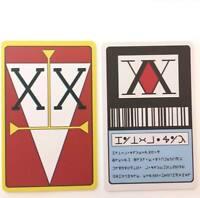 2pcs A Set Anime Hunter x Hunter 1 Star & 2 Star PVC Hunter License Card Cosplay