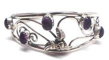 Navajo Handmade Amethyst Sterling Silver Bracelet- Carolynn Nez