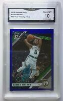 2019-20 Blue Velocity Prizm Kemba Walker Boston Celtics #52 GMA 10 Gem Mint