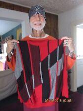 "Owner WWE Hall Of Famer Jimmy Valiant d.Fine Mens Red/Black/Gray ""M"" Sweater"
