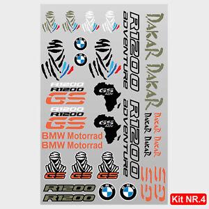 Kit adesivi vari BMW R1200GS Adventure scritte r1200 gs tuareg dakar africa M.4