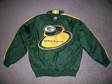 Mens NWOT VTG 90's GREEN BAY PACKERS Puffer Jacket w/Hood M by NFL PRO LINE