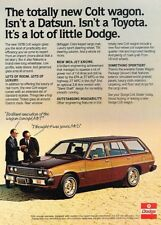 1978 Dodge Colt Wagon Built by Mitsubishi Advertisement Print Art Car Ad J881