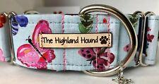 "2"" Sophia Handmade Martingale Dog Collar  Greyhound, Whippet, Lurcher, Saluki"