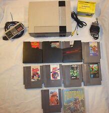 Nintendo Entertainment System NES Console bundle 10 games