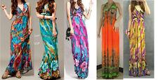 WOMEN LADIES SUMMER BEACH MAXI DRESSES B02 SIZE 6 8 10 12 14 16 18 20 22