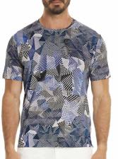 Robert Graham PRADO Blue Geo T Shirt Tee M NEW NWT $118 FREE SHIP! Medium