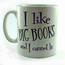 I LIKE BIG BOOKS AND I CANNOT LIE GIFT MUG CUP PRESENT READING STUDENT WORK