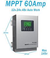 MPPT Controlador de carga solar 20A 40A 60A12V/24V48V Solar Panel Regulador