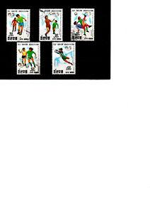 COREE 1991 lot de 5 timbres coupe du monde foot féminin