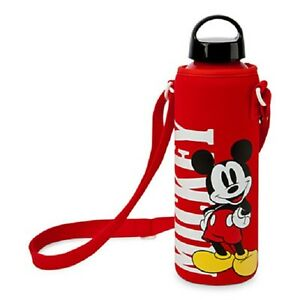 Disney Store Aluminum Water Bottle Cover Minnie Mickey Tinker Grumpy Marvel New