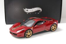 1:18 Hot Wheels Elite Ferrari 458 *CHINA EDITION* dark red bei PREMIUM-MODELCARS
