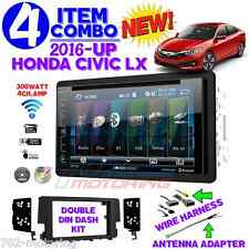 2016 HONDA CIVIC LX BLUETOOTH DVD CD RADIO STEREO DASH KIT DOUBLE DIN