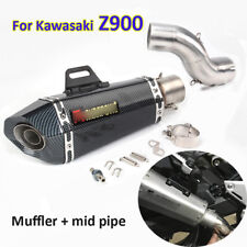 Motorcycle Exhaust Connect Pipe Muffler Slip On Z900 For Kawasaki Exhuast System