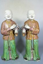Beautiful Chinese glaze three-color designs porcelain a pair bays