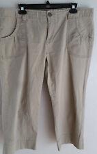 Calvin Klein Womens Beige Capri Stretch Pants size 14